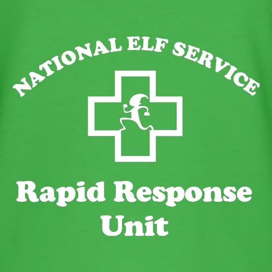 National Elf Service - Rapid Response team t shirt