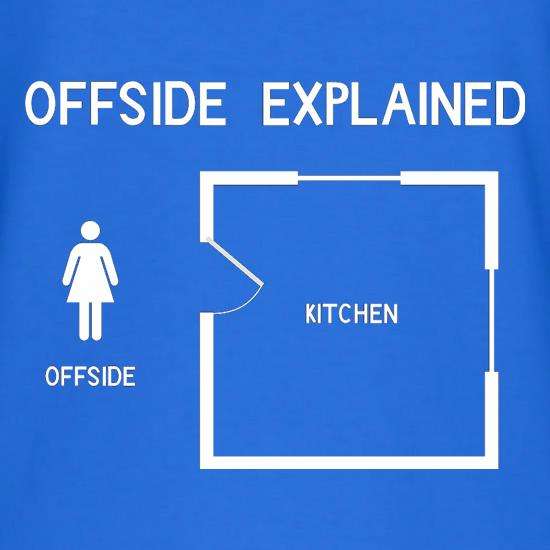 Offside explained t shirt by chargrilled for Men s shirt sizes explained