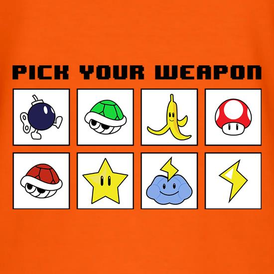 Pick Your Weapon t shirt
