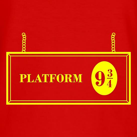 Platform Nine And Three Quarters t shirt