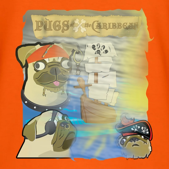 Pugs of the Caribbean t shirt