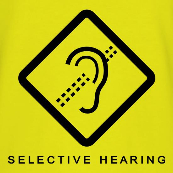 selective listening In the noisy din of a cocktail party, there are many sources of sound that compete  for our attention even so, we can easily block out the noise.