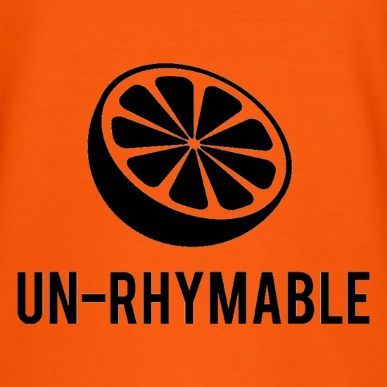 Un-Rhymable t shirt