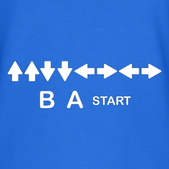 up up down down left right left right b a start t shirt by chargrilled