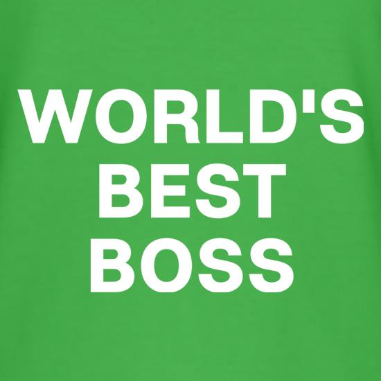 World's Best Boss t shirt