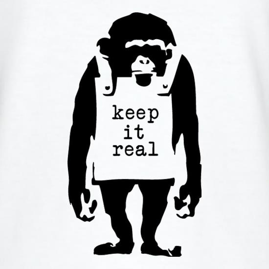 Banksy Keep It Real t shirt