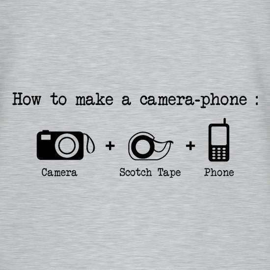 How To Make A Camera Phone V Neck T Shirt By CharGrilled