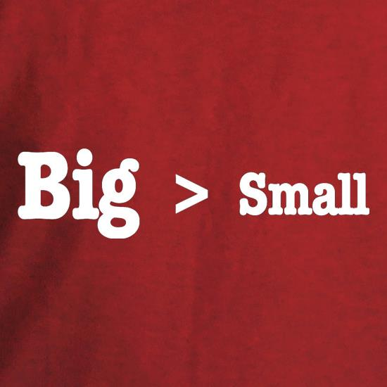 Big Small t shirt